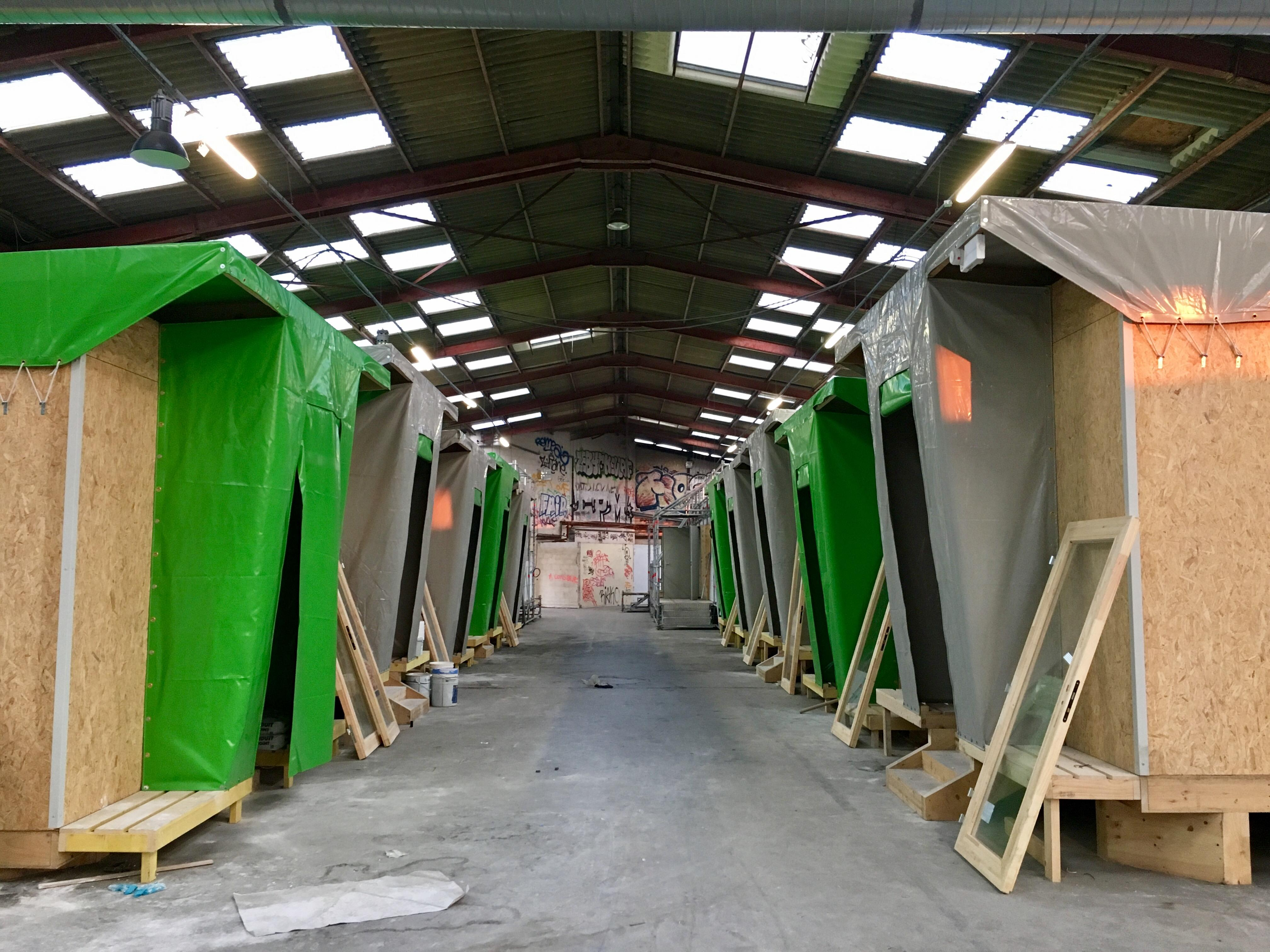Construction du centre d'accueil de réfugiés